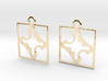 square cross hole earrings 3d printed