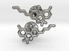 THC molecular cufflinks 3d printed