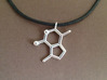 catnip molecule pendant 3d printed catnip pendant in polished silver, cord  not included