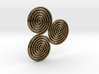 "Celtic ""life and death"" triple spiral pendant 3d printed"
