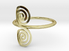 """Celtic """"life and death"""" small spiral ring 3d printed"""