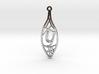 Personalised Voronoi Leaf Necklace (Y) 3d printed Personalised Voronoi Leaf Necklace (Y)