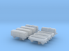 1/1200th scale freight cars (8 pieces) 3d printed
