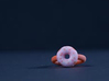 The Glazed Donut Ring (Size 4 and 3/4) 3d printed Strawberry glazed with rainbow sprinkles.