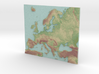 Europa map Color 3d printed