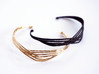 Cecilie Cuff Bracelet 3d printed Cecilie Cuff Bracelet in Polished Bronze and Black Premium Strong and Flexible Plastic