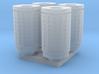 DSB 80L Affaldsbeholder (4stk) 1:160 3d printed