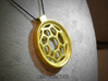 Surround ::: Circle Pendant ::: v.01 3d printed