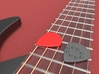 Jazz style thick guitar pick with dimples 3d printed Jazz Style Guitar Pick with Dimples