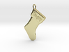 """Naughty"" Christmas Stocking Pendant 3d printed"