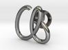 Cursive A Cufflink 3d printed