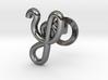Cursive Y Cufflink 3d printed