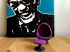 Egg Chair Dome: Purple & Black (1:24 Scale) 3d printed Part retro. Part future. 100% egg.