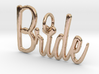 Bride Heart Pendant 3d printed