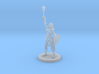 Female Elf Cleric with Mace 3d printed