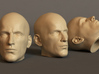 Generic Male Head 1/6 scale figure  - Variant 06 3d printed
