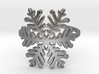 Snowflake ring (size 4) raw silver  3d printed