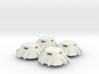6mm Concrete Pillboxes 3d printed
