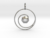Spiral Gemstone Pendant 3d printed
