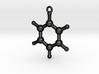 Benzen Molecule Pendant. 2 Sizes. 3d printed