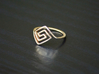 Square Spiral Ring 3d printed Polished Bronze