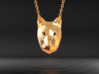 Low Poly Fox Pendant 3d printed
