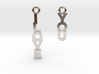 """""""I love you"""" - Cute messages earings 3d printed"""