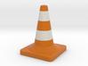 Traffic cone full colors 3d printed