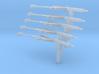 Sten mk2 (x5) 1:40 scale 3d printed