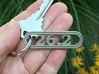 Marathon Keychain 26.2 - Better than a car decal! 3d printed Keep the Inspiration With You