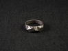 Tri Morph Ring 3d printed Photo of the ring in Stainless Steel