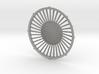 """48"""" dynamic fan grille in 1.6"""" scale 3d printed"""