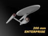 USS Enterprise, Mia's redesign, 200 mm 3d printed important: this is a render, the printed model does not come painted