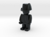 Landwehr v2 3d printed Example figurine wearing the helmet in black Hi-Def Acrylate