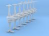 MicroFleet Tridran Fast Attack Group (14pcs) 3d printed