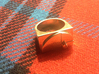 Golden Ratio Ring 3d printed Polished Brass