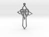 Personalised Heart Cross Pendant 3d printed Personalised Heart Cross Pendant