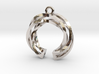 Twisted ring pendant with multiple branchs 3d printed
