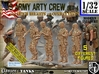 1/32 US Arty Crew Hot Weather Set4 3d printed