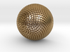 Fibonacci Flower 3d printed Polished Gold Steel