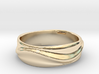 Ebb and Flow Ring No.1 - Gentle Curves, Size 7 3d printed