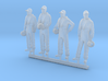 087-H0080: 4 tracker pilots scale 1:87 3d printed