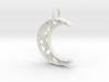 Glistening Moon 30mm Pendant 3d printed