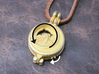 """Rotate Pendant """"Dolphin and Moon"""" 3d printed Dolphin will rotate when you rotate the small gear."""