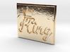 King Pendant 3d printed