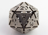 Big die 20 / d20 32mm / dice set 3d printed Stainless steel, but manually filed