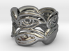 Eyering - a silver ring 3d printed