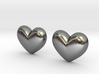 Batman Kisses Heart Earrings (front pieces only) 3d printed