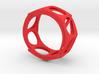 Voronoi Alphabet Bracelet (001) 3d printed