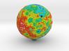 Topographic Mercury  3d printed